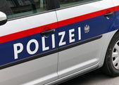 Carro de polícia austríaca — Foto Stock