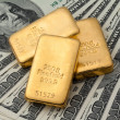 Investment in real gold than gold bullion and gold - Stock Photo