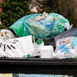 Separation of waste collection point for plastic w — Stock Photo #8330500