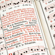 An old missal and a priest songbook — Stock Photo #8331251