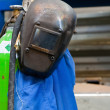 Stock Photo: Protective clothing of welder in metal indus