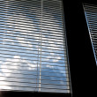 Window blinds for sun protection, heat protection — Stok fotoğraf