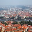 Prague, city view from petrin lookout tower — Stock Photo