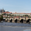 Prague, charles bridge and prague castle hradcany - Stock Photo
