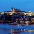 Prague, charles bridge and prague castle hradcany at na — Stock Photo #8338759