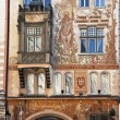 Prague, old town square, stork house — Stock Photo #8338892