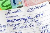 Handwritten statement of accounting documents — Stock Photo