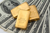 Investment in real gold than gold bullion and gold — Stock Photo