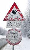Verscheites signos que patina en invierno — Foto de Stock