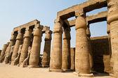 Egito, templo de luxor, luxor amun. — Foto Stock