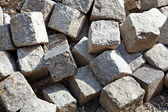 Paving stones are mixed — Stock Photo