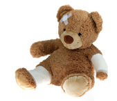 Bear with bandage after an accident — Stock Photo