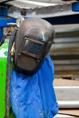 Protective clothing of a welder in the metal indus — Stock Photo