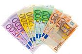 Dinero de la unión europea. moneda euro — Foto de Stock