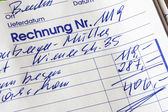 Handwritten statement of accounting documents — Stock Photo