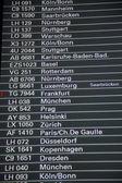 Conseil de départ dans un aéroport — Photo