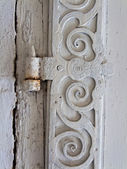 An old door hinge of a residential building — Stock Photo