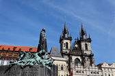 Prague, old town square tyn, church — Stock Photo