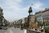 Prague, wenceslas square — Stock Photo