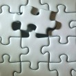 Completing the missing Jigsaw puzzle — Stock Photo