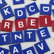 Variable words made by leter pieces — Stock Photo