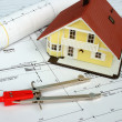 Drawing and designing tools in building — Stock Photo #8356297