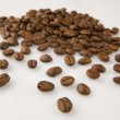 Cofee beans at the fabrique — Stock Photo