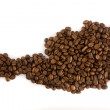 Cofee beans at the fabrique - Stock Photo