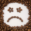 Smile made of coffee beans — Stok fotoğraf