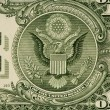 Digit One from dollar banknote close-up — Stock Photo