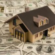 House on dollar bills - Foto Stock