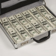 Briefcase full of cash — Stock Photo