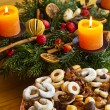 Cookies and biscuits for christmas - Stock Photo
