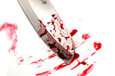 Knife blade with blood drops — Stock Photo
