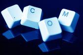Işareti .com kavramı klavye tuşları ile — Stok fotoğraf