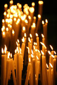 Candles in a church — Foto Stock
