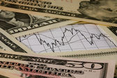 Money and exchange chart — Stock Photo
