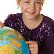 Child with a globe — Stock Photo #8360390