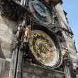 Prague astronomical clock on old town hall - Stock Photo