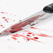Knife with blood. crime. murder weapon. — Stock Photo #8420128