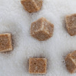 Stock Photo: Brown sugar. unhealthy diet with carbohydrates