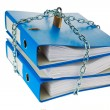 File folder closed with chain — Stock Photo