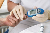 Blood glucose meter — Foto Stock