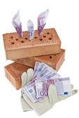 Construction, financing, building society. — Stock Photo