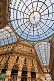 Galleria vittorio emanuele in milan, italy — Stock Photo