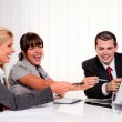 Successful team in a meeting — Stock Photo #8626420