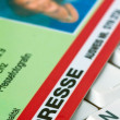 Press id of a journalist — Stockfoto