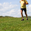 Jogger training for fitness with running — Stock Photo #8626469