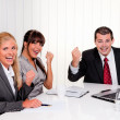 Successful team in a meeting - Stock Photo
