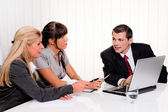 Successful team in a meeting — Stock Photo